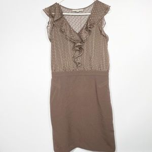 LOFT Chocolate Brown Work Dress Size 10